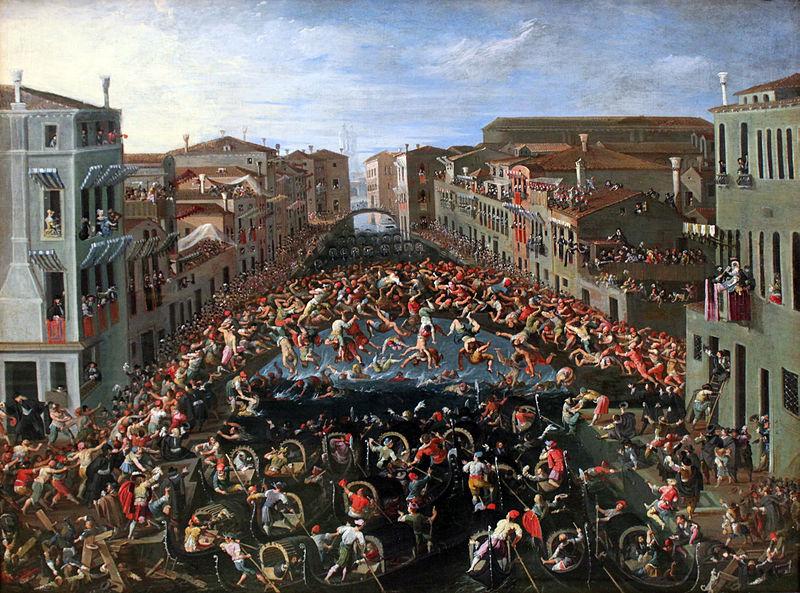 800px-1673_Heintz_Wettstreit_auf_der_Ponte_dei_Pugni_in_Venedig_anagoria
